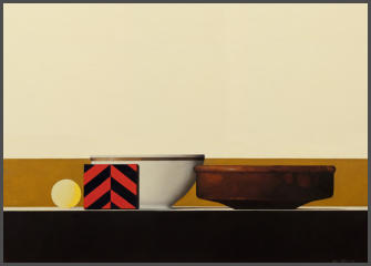Wim Blom-Three Objects  2014 Oil on canvas 20.3 x 45.7cm SOLD