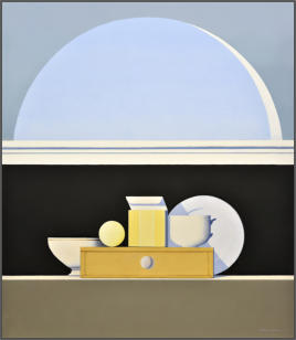 Wim Blom-Still life below an open window  2015