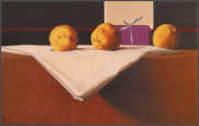 Wim Blom  Quinces on a starched cloth 2002 Oil on canvas 38 x 61 cm