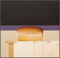 Wim Blom-Loaf of bread 2010 Oil on panel 46.5 x 47.5 cm