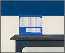 Wim Blom-Empty bird cage 2013 Oil on panel 45.7 x 56 cm
