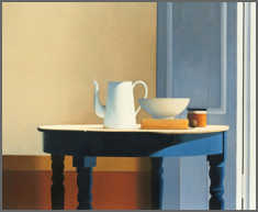 Wim Blom-Table in sunlight 2013 Oil on canvas 71 x 86.3 cm