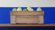 Wim Blom-Box with fruit 2018 oil on canvas 30 x 56 cm