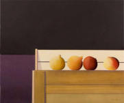 Wim Blom-Four pomegranates 2008 oil on canvas  56 x 66 cm-22 x 26 inches