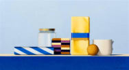 Wim Blom-Lacquer box and yellow parcel 2008 oil on canvas 30.5 x 56 cm-12 x 22 inches