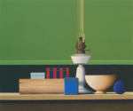 Wim Blom-Lamp and Striped Box 2007 oil on canvas 51 x 61 cm-20 x 24 inches