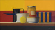 Wim Blom-Red and yellow still life  2009 Oil on canvas 25.5x45.7cm