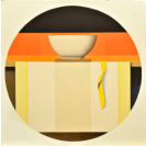 Wim Blom-Shelf with a bowl 2015 oil on canvas 66 x 66 cm-26 x 26 inches