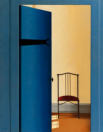 Wim Blom-The blue door 2010 oil on canvas 71 x 56 cm-28 x 22 inches