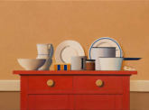 Wim Blom-The red cabinet 2011 oil on canvas 50 x 69.42 cm